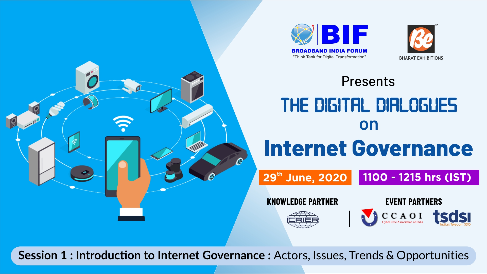 The Digital Dialogues series on Internet Governance - Session 1 - 29th June, 2020